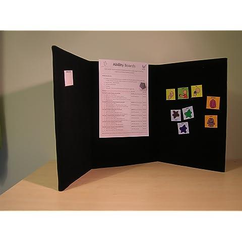 Portable Exhibition Display Boards : Tabletop folding exhibition display board large 3 panel header