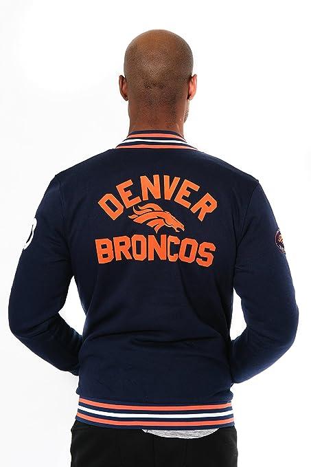 5b0d7f00 ICER Brands NFL Men's Full Zip Fleece Vintage Letterman Varsity Jacket,  Team Color