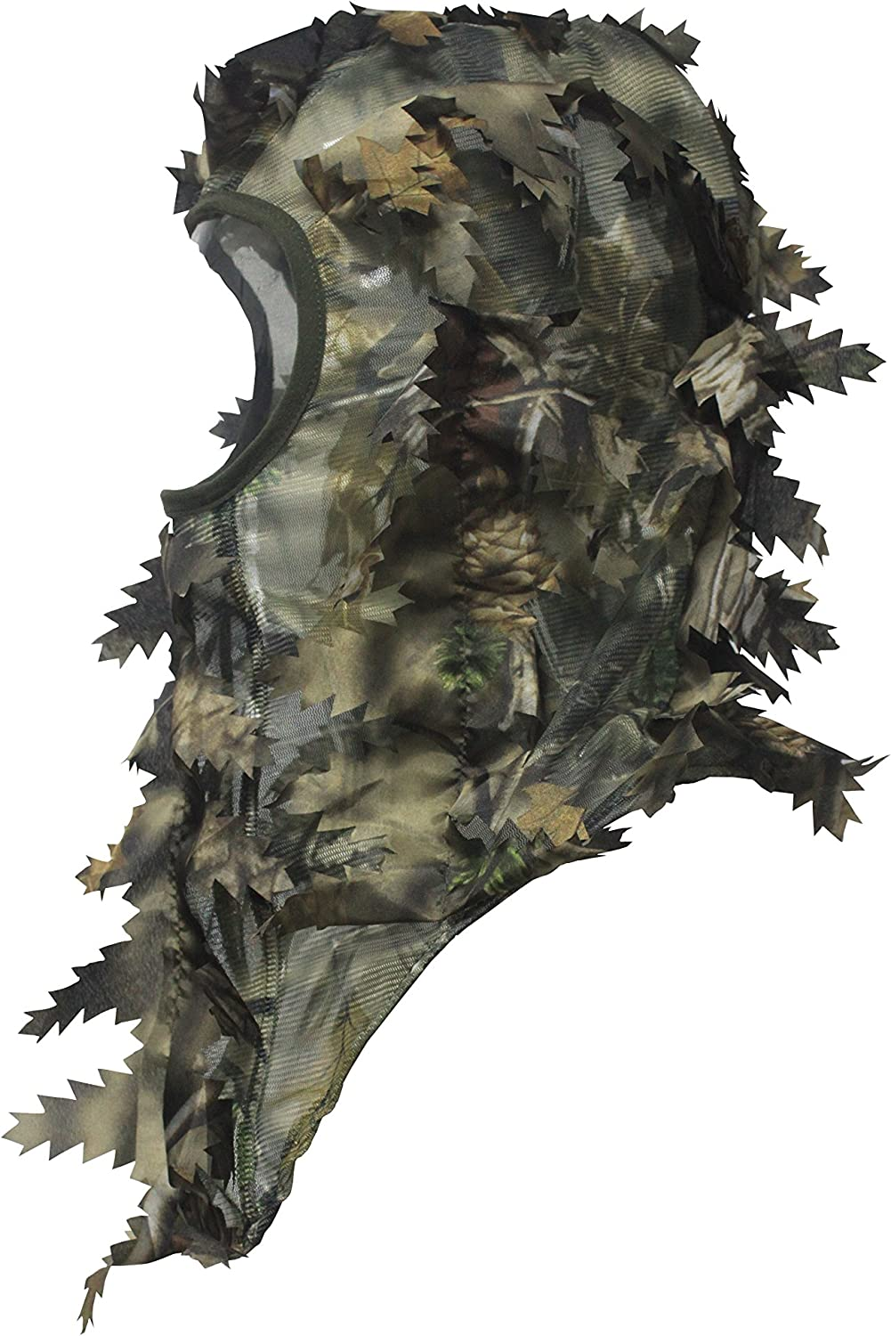 North Mountain Gear Ambush HD Camouflage Hunting Full Cover Leafy 3D Face Mask (Brown) : Clothing