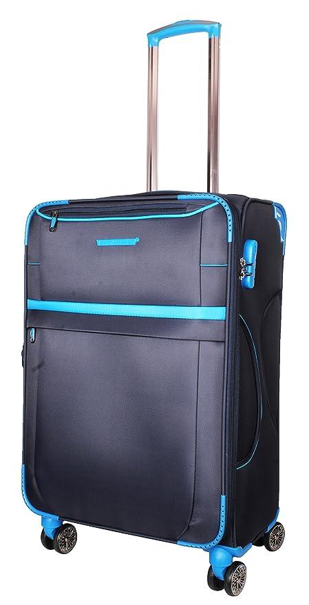 181e853098bd Ventex Germany 24-inch 4 Wheel Polyester Check-in Trolley (Dark Blue)   Amazon.in  Bags