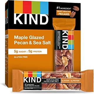 product image for KIND Bars, Maple Glazed Pecan and Sea Salt, Gluten Free, Low Sugar, 1.4 Ounce Bars, 60 Count