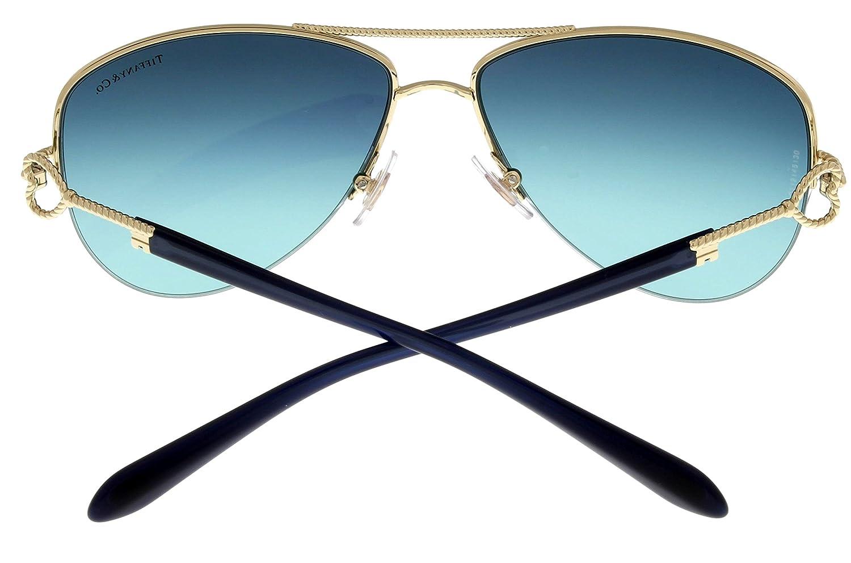 4c84bffc87e Amazon.com  Tiffany   Co Sunglasses Women Gold Aviator TF3046 60949S   Clothing
