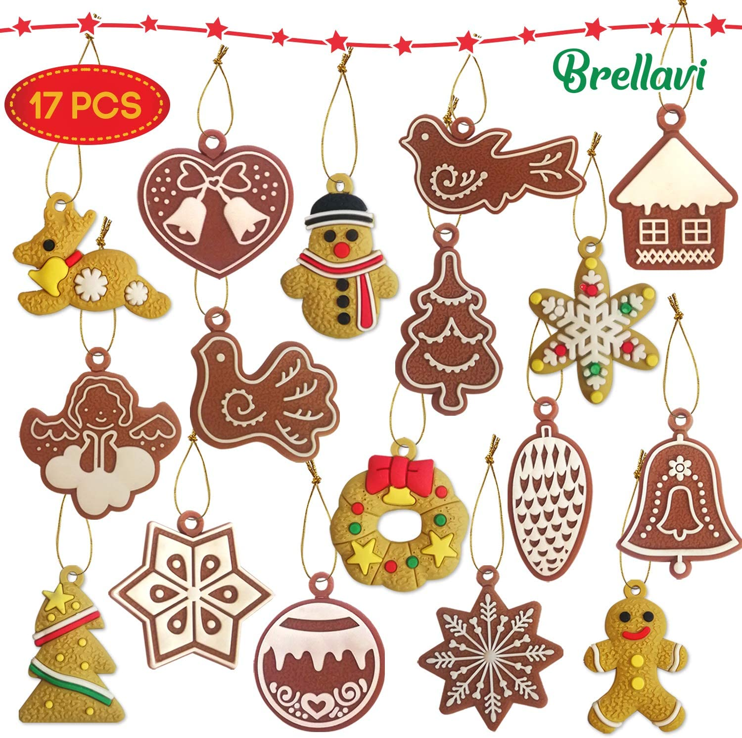Christmas Ornaments 2019, Xmas Hanging Decoration 2019, Christmas Tree Decoration Ornaments 2019, Variety of Styles for Christmas Ornaments 2019, Best Christmas Ornaments 2019 Set of 17 Pieces