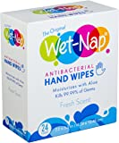 Wet-Nap The Original Anti-Bacterial Wipes Packet, Fresh, 24 Count