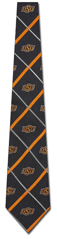 Oklahoma State Cowboys NCAAシルバーライン織りシルクメンズネクタイ大学スポーツファッション   B00YFDPLWA