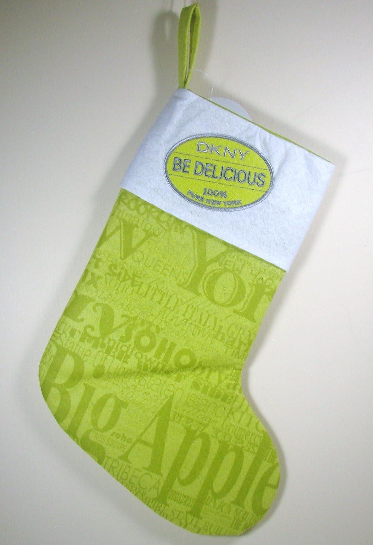 DKNY Be Delicious Perfume de Donna Karan calcetín de Navidad de vacaciones, fieltro: Amazon.es: Belleza