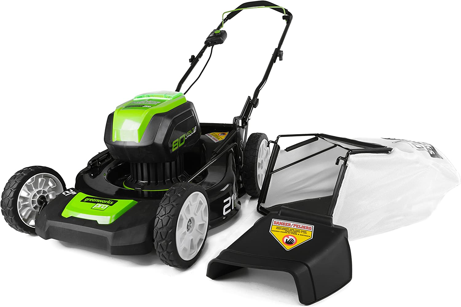 Greenworks PRO 21 Inch (Best Rated Cordless Lawn Mower for hillsides)