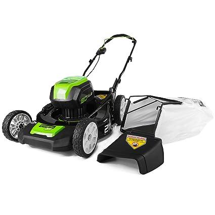 amazon com greenworks pro 21 inch 80v cordless lawn mower battery rh amazon com
