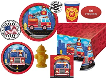 FLAMING FIRETRUCK Birthday Party For 16 W Candle