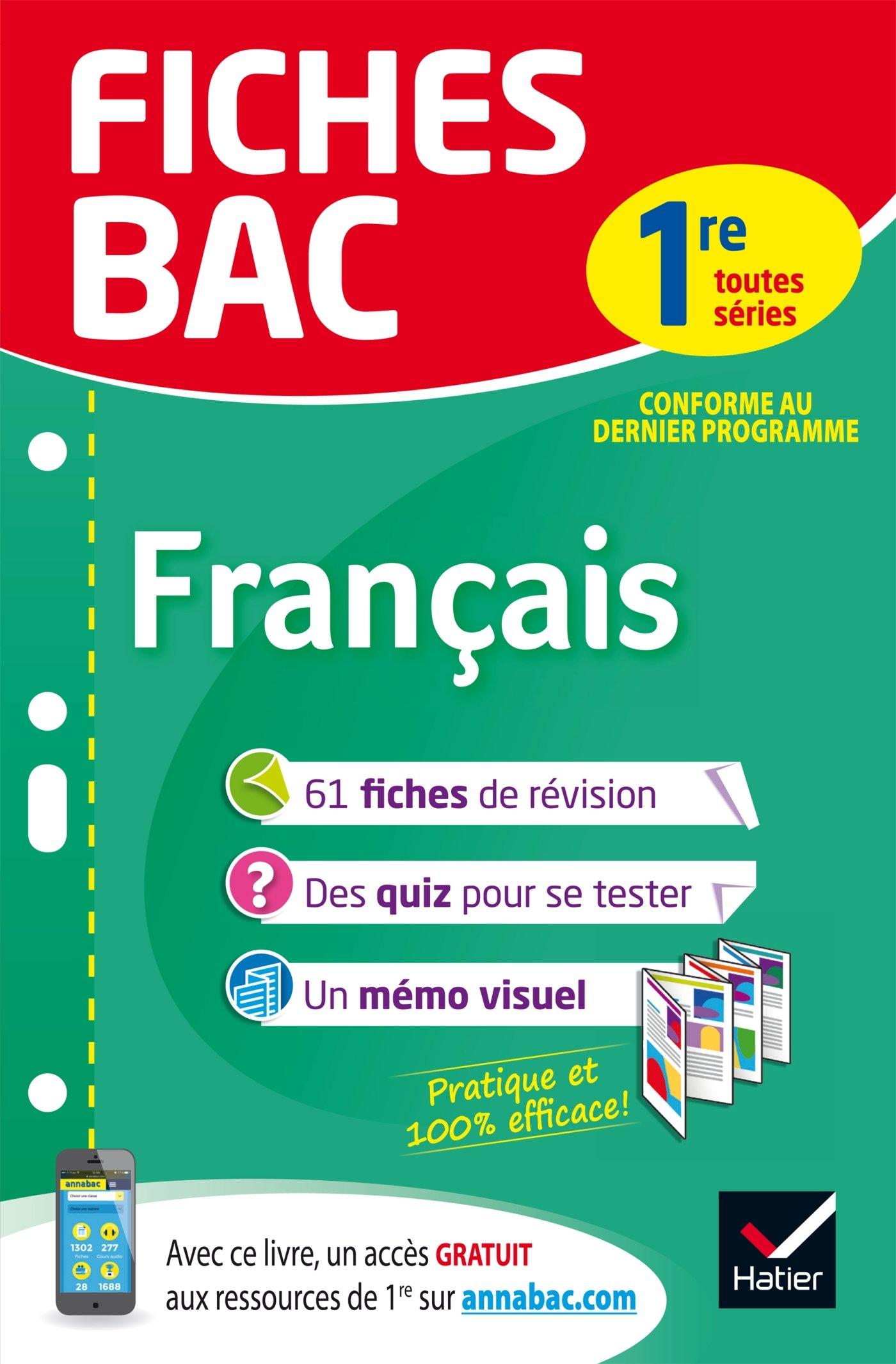 Fiches bac Français 1re toutes séries: fiches de révision Première séries générales et technologiques: Amazon.es: Sophie Saulnier: Libros en idiomas ...
