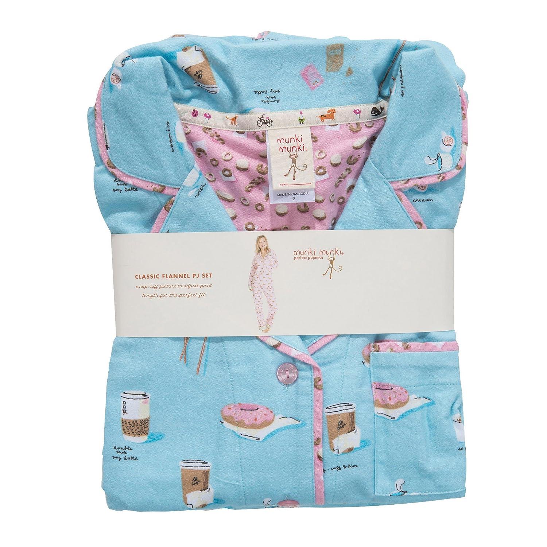 munki munki Women s Flannel Long Sleeve Classic Pj Set at Amazon Women s  Clothing store  b588e2922