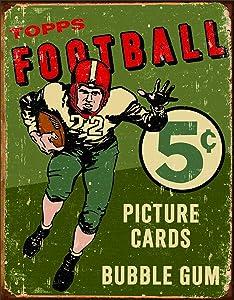 "Desperate Enterprises Topps 1956 Football Tin Sign, 12.5"" W x 16"" H"