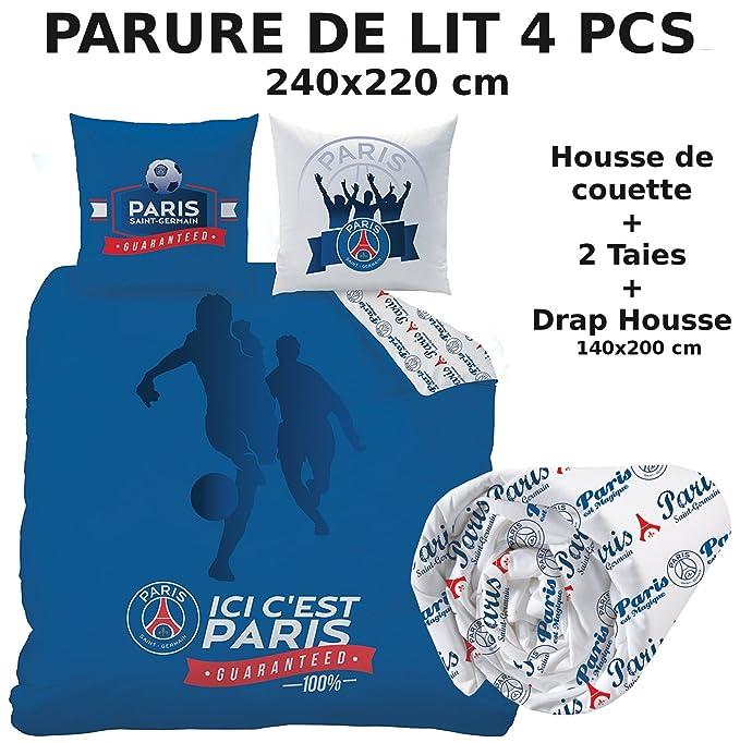 Parure De Lit 4pcs Housse De Couette 240x220 2 Taies D