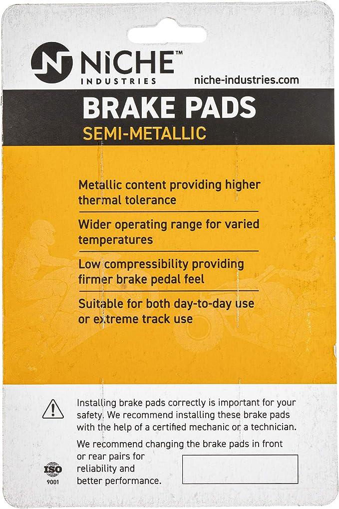 NICHE Brake Pad Set for Yamaha YZF R1 5FL-W0046-50-00 5JJ-W0045-00-00 Complete Organic