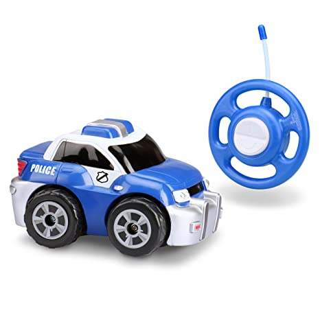 Amazon Com Kid Galaxy My First Rc Police Car Toddler Remote