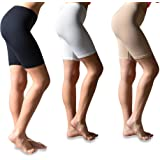 Sexy Basics Womens 3 Pack Buttery Soft Brushed Active Stretch Yoga Bike Short Boxer Briefs