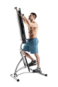 man training on Weslo vertical climber