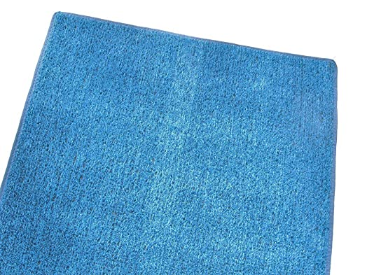 Koeckritz Rugs 3 X5 – Blue – 1 4 Thick – 8 oz. Artificial Grass Turf Carpet Indoor Outdoor Area Rug. Premium Nylon Fabric Finished Edges