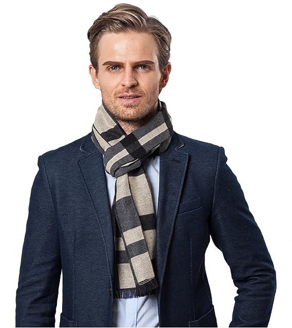 heekpek Bufanda de Hombre la tela escocesa cozy Abrigo Del Mantón cuello bufanda Regalos para Hombre Bufanda de Hombre la Tela Escocesa Cozy: Amazon.es: ...