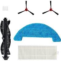 360 C50 Robot Aspiradora y Mopa Kit de accesorios de repuesto de 2 cepillos laterales, 1 cepillo principal, 1 filtro, 1…
