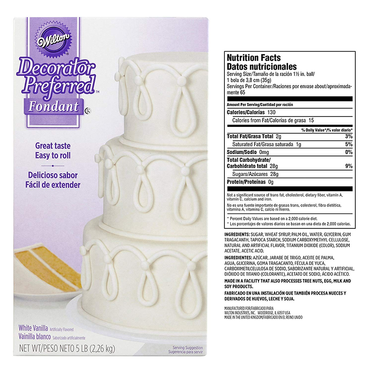 Wilton Decorator Preferred White Fondant, 5 lb 4Pack by Wilton (Image #2)