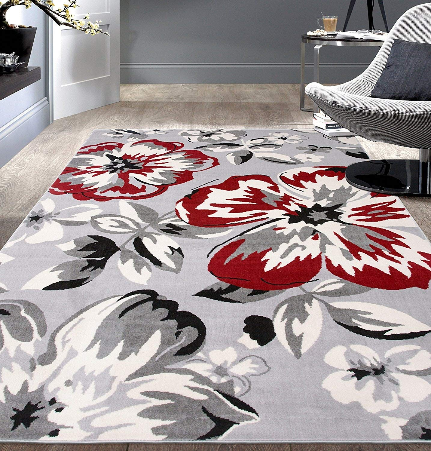 Rugshop Modern Floral Area Rug, 2' X 3', Cream 2' X 3' World Rug Gallery 9098Cream 2'x3'
