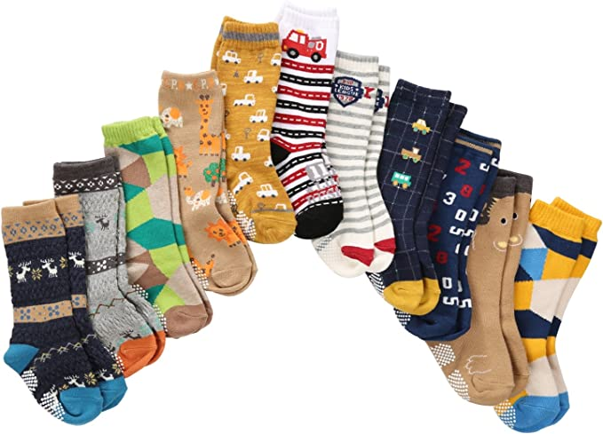 Baby Toddler Girls Boys Unisex Terry Warm ABS Anti Slip Christmas Winter Socks
