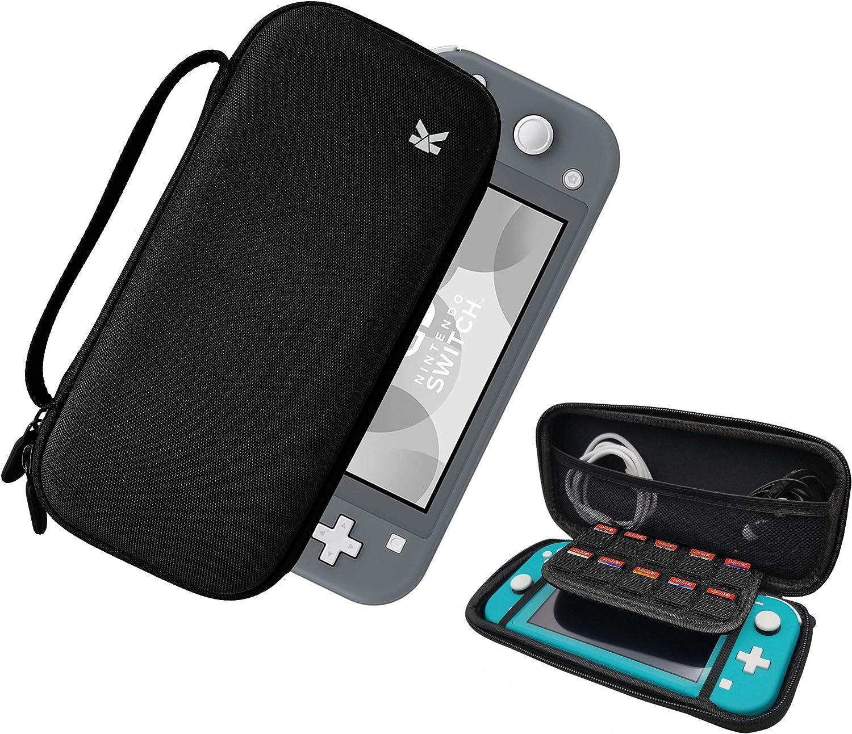 PuzzleK - Funda de Transporte para Nintendo Switch Lite, Funda de Viaje rígida y portátil para Switch Lite Console y Accesorios, 10 Cartuchos de Juego: Amazon.es: Electrónica