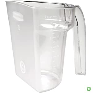 Rubbermaid Commercial FG9G5400CLR Safety Portioning Scoop, 8-Cup Capacity, Clear