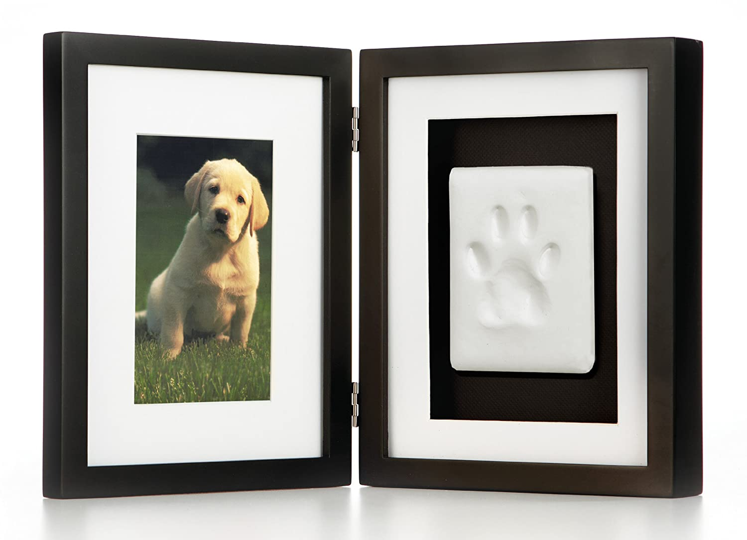 amazoncom pearhead pawprints pet memorial desk frame black dog print picture frame pet supplies - Dog Memorial Frame