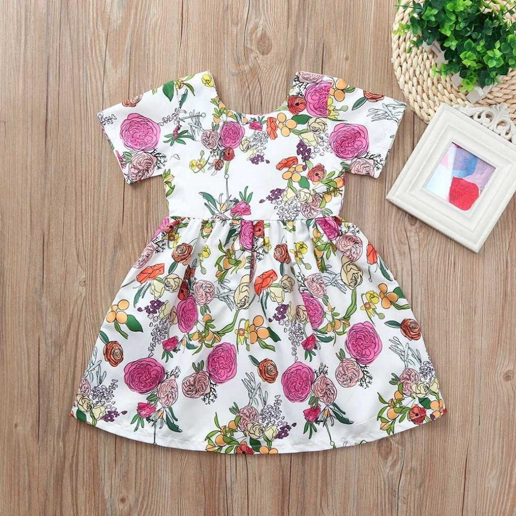 6 Months - 4 Years Pollyhb Baby Girl Dress Toddler Infant Baby Girls Dress Flower Print Dresses Outfits Clothing