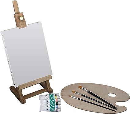 Amazoncom Art Advantage Mini Easel Acrylic Paint Set