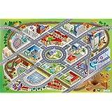 """Playmat Collection Connect """"District"""" Carpet, Multi-Colour, 100 x 150 cm"""