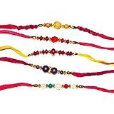 Set of 5 Rakhi Bracelets to USA - Raksha Bandhan Rakhi