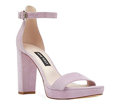 Nine West Women s Dempsey Platform Heel Sandal Light Purple Suede 10 M US   Amazon.co.uk  Shoes   Bags 0ec11dcd27