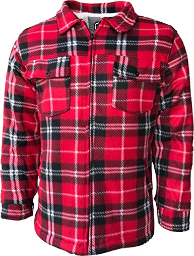 Camisa de forro polar acolchada para hombre, talla M, L, XL, 2XL: Amazon.es: Ropa y accesorios