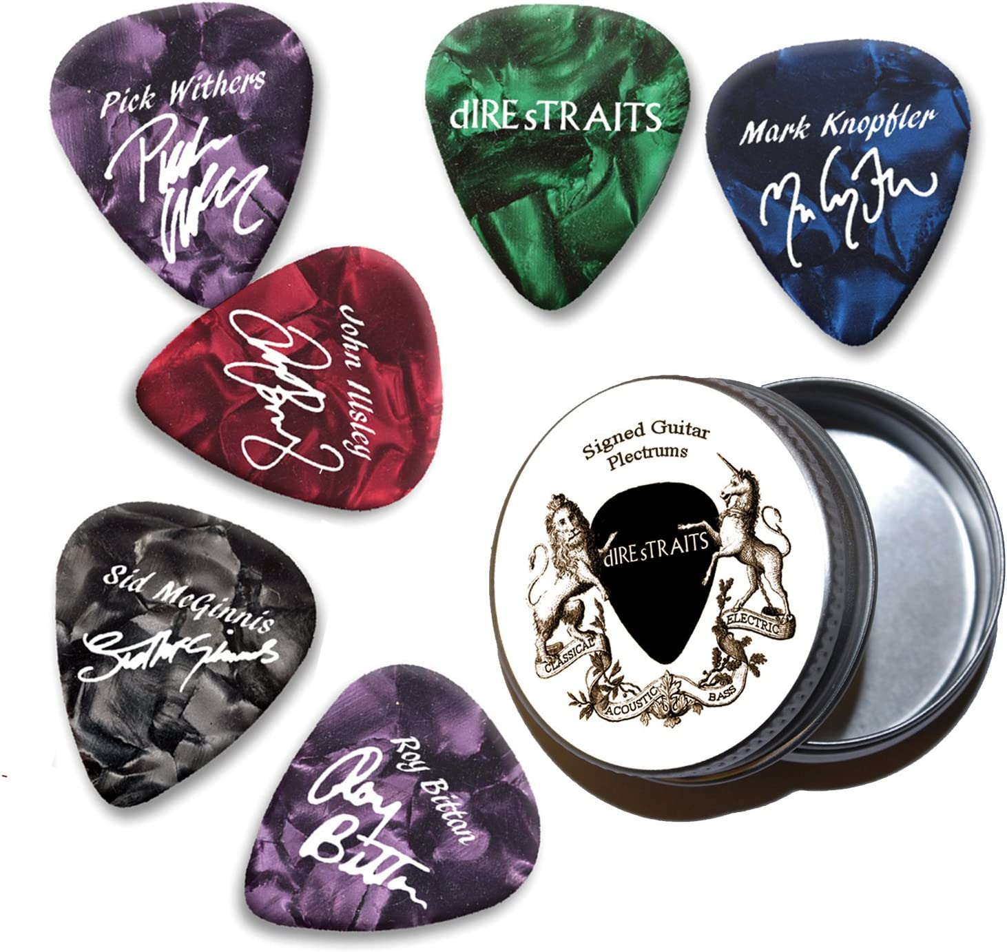 Dire Straits Mark Knopfler Pearl Púas de guitarra con estaño Tin ...
