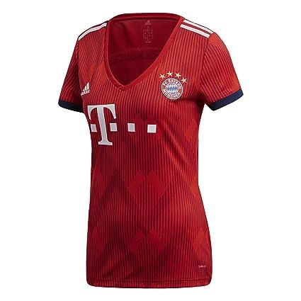 9a08ec29 Amazon.com : adidas 2018-2019 Bayern Munich Home Womens Football Soccer T-Shirt  Jersey : Clothing