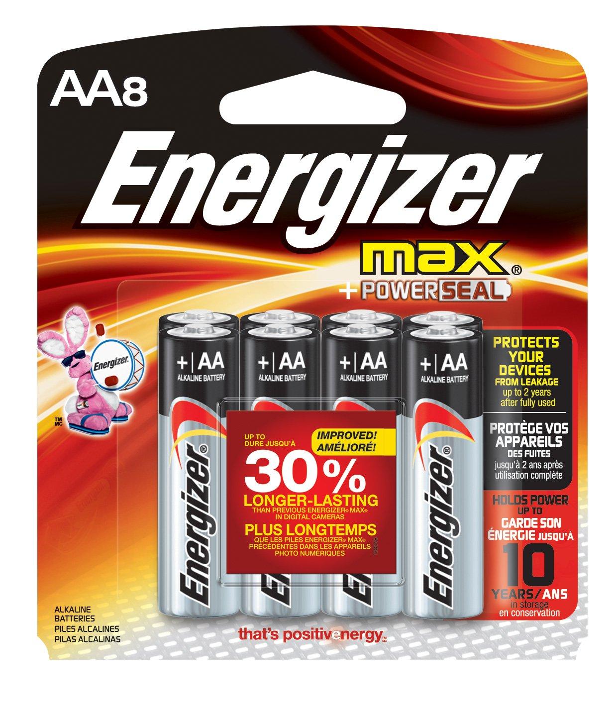 Amazoncom Energizer MAX AA Batteries Designed To Prevent - Us zip code aa