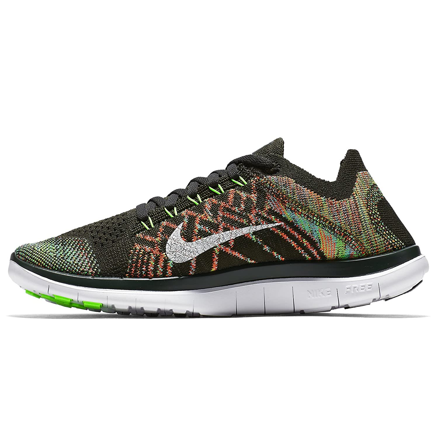 huge selection of f5d79 3e8d2 Nike Free 4.0 Flyknit 717076-301 Sequoia White Blue Orange Women s Running  Shoes (Size 12)  Amazon.ca  Shoes   Handbags