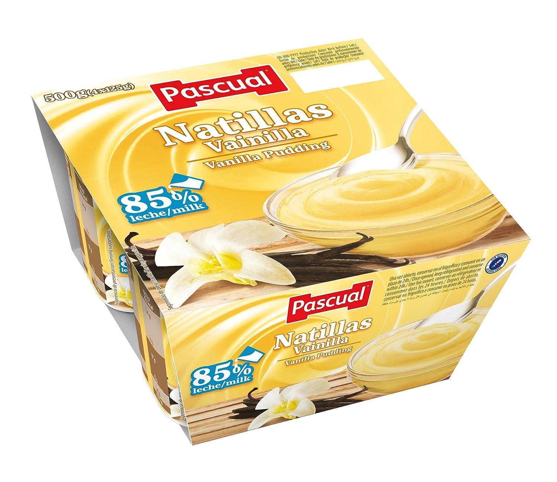 Pascual Natillas Vainilla - Paquete de 4 x 125 gr - Total: 500 gr: Amazon.es: Alimentación y bebidas