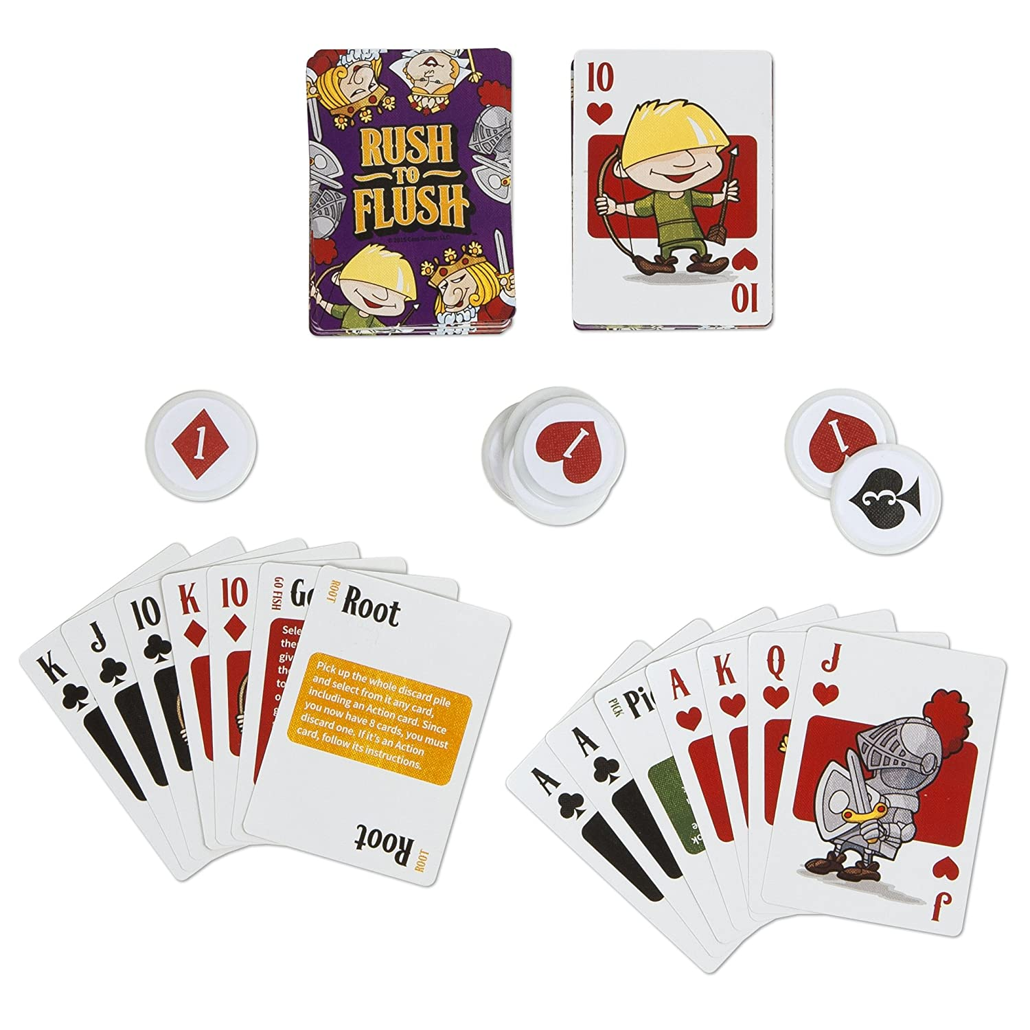 PSI MBS Rush to Flush Card Game Publisher Services Inc 1135MBS