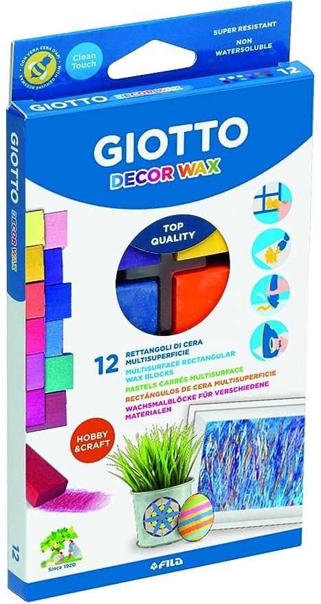 Giotto 442000 - Pack de 12 ceras: Amazon.es: Oficina y papelería