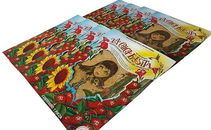 Amazon.com: Parts Direct La Chica Fresita, Automotive Air Freshener, Strawberry, 12 Piece: Automotive