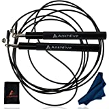 ANKHTIVE Skipping Jump Rope Aluminum Handle, Bundle with Cooling Towel & Carrying Bag