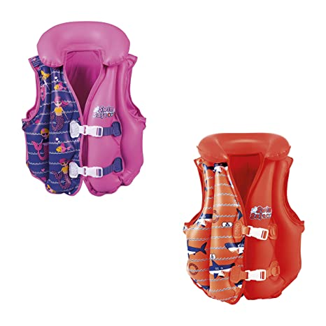 Bestway Swim Safe 32156 Chaleco Inflable Deluxe con Forro, Unisex ...