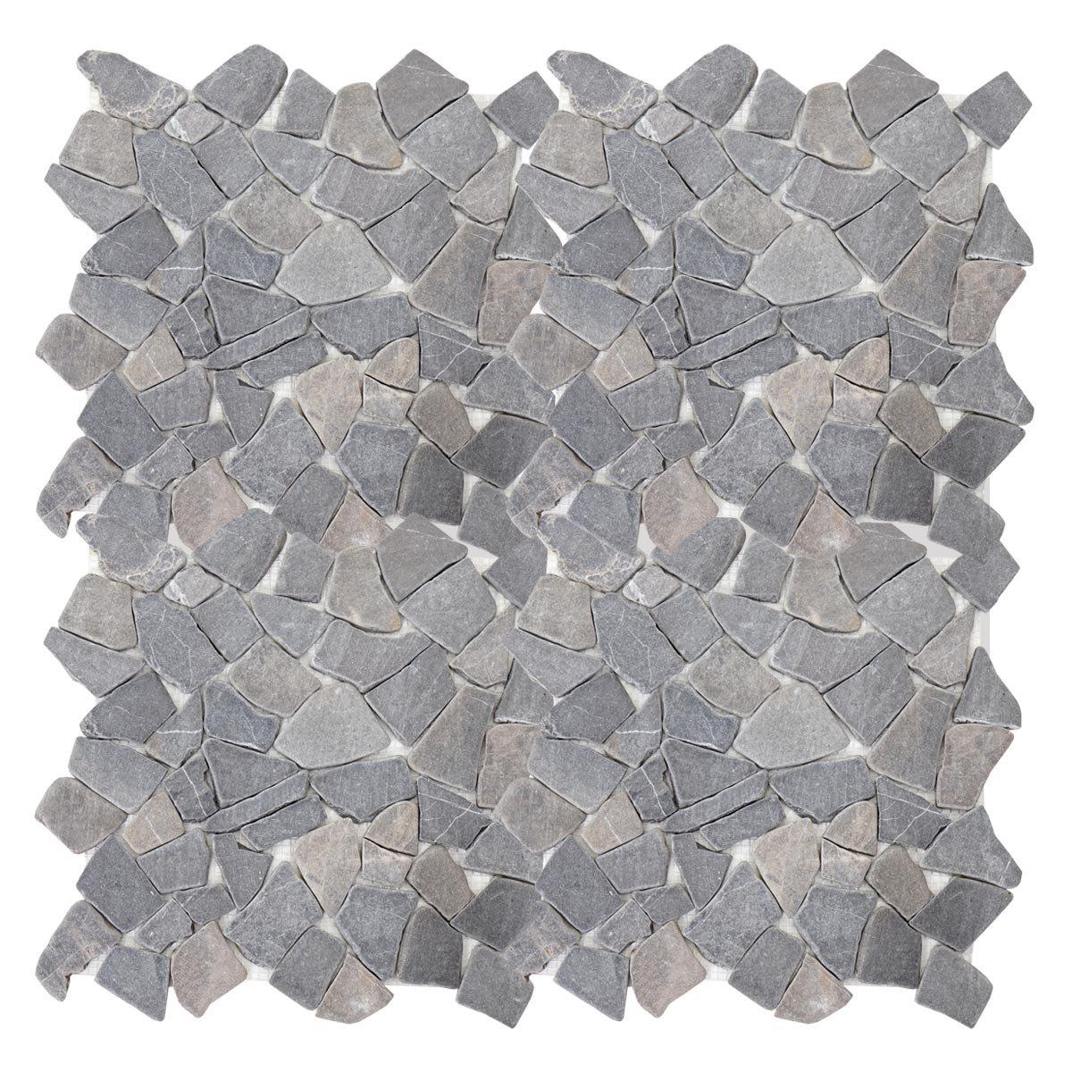 11 St/ück je 30x30cm = 1qm ~ grau Marmor Naturstein-Fliese Mosaik Mendler Steinfliesen Vigo T687