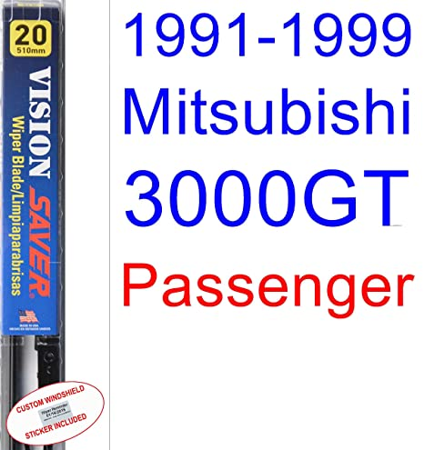 Amazon.com: 1991-1999 Mitsubishi 3000GT Wiper Blade (Passenger) (Saver Automotive Products-Vision Saver) (1992,1993,1994,1995,1996,1997,1998): Automotive