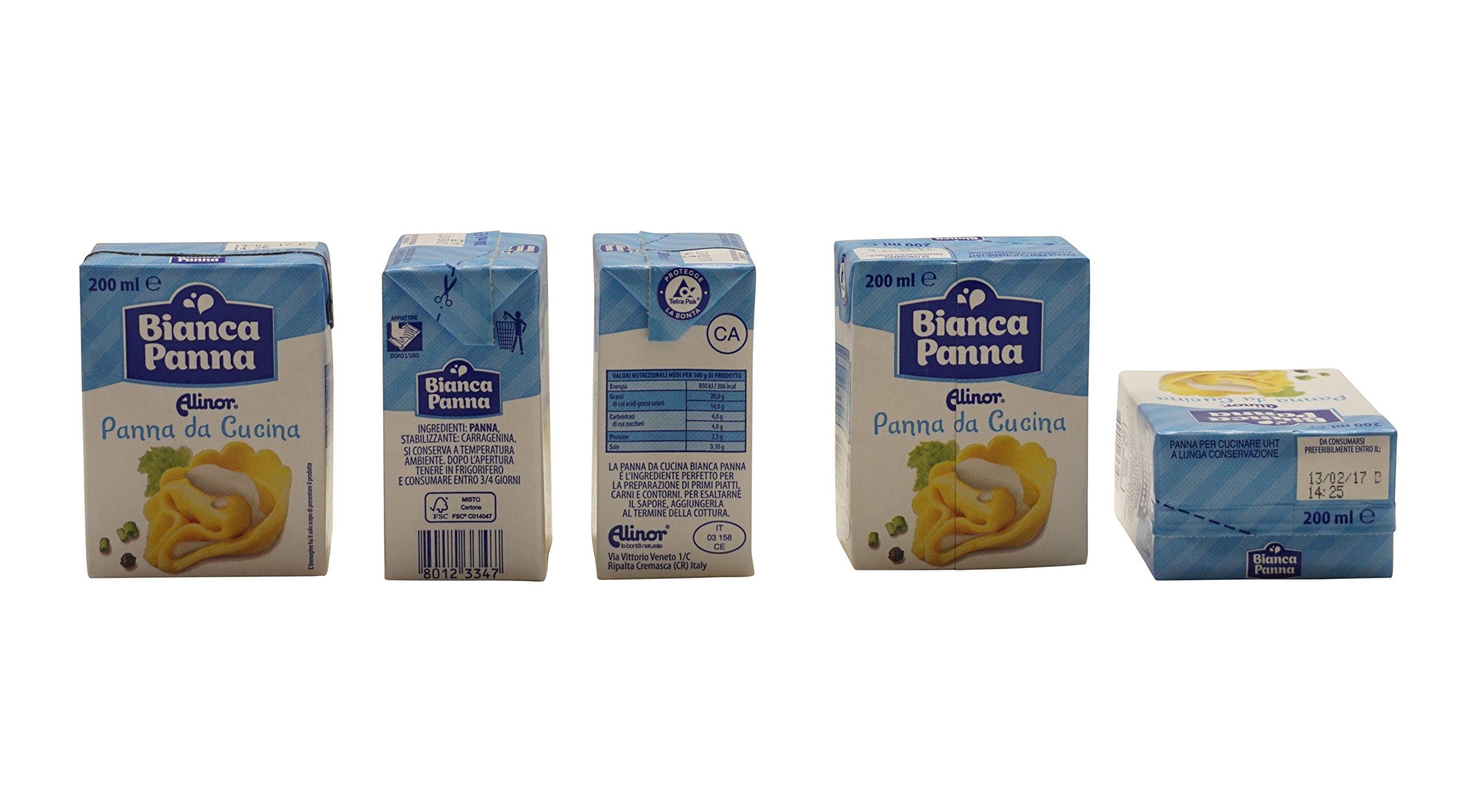 Alinor: Italian ''Panna Da Cucina'', UHT Cooking Cream * 6.7 Fluid Ounce (200ml) Packages (Pack of 4) * [ Italian Import ] by Alinor (Image #7)