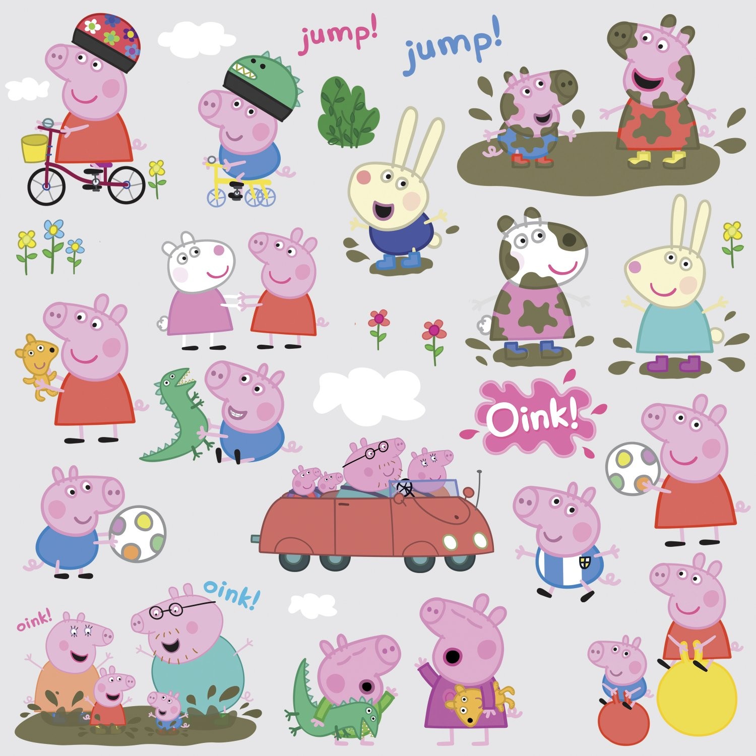 Roommates rmk3183scs peppa the pig peel and stick wall decals roommates rmk3183scs peppa the pig peel and stick wall decals amazon amipublicfo Images